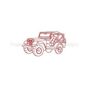 Royal Club Of Embroidery Designs - Machine Embroidery Patterns RW Jeeps Set