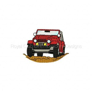 Royal Club Of Embroidery Designs - Machine Embroidery Patterns Jeeps Set