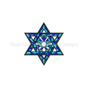 Royal Club Of Embroidery Designs - Machine Embroidery Patterns Jewish Vitraux Set