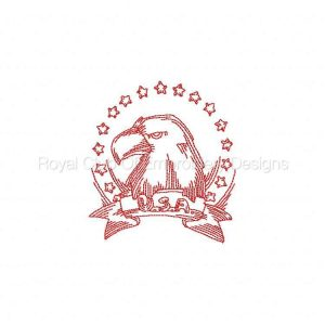 Royal Club Of Embroidery Designs - Machine Embroidery Patterns JN American Eagles Set