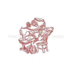 Royal Club Of Embroidery Designs - Machine Embroidery Patterns JN Bonnet Girls Sewing Set
