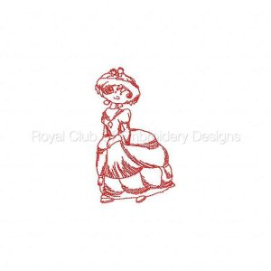 Royal Club Of Embroidery Designs - Machine Embroidery Patterns JN Bonnets Big Dresses Set
