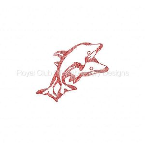 Royal Club Of Embroidery Designs - Machine Embroidery Patterns JN Dolphins Set