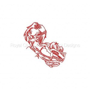 Royal Club Of Embroidery Designs - Machine Embroidery Patterns JN Fashion Girls Beach Set