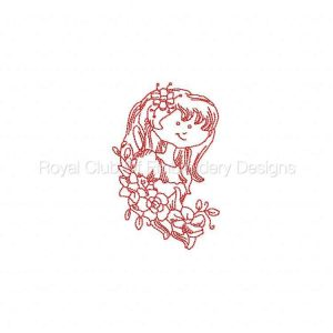 Royal Club Of Embroidery Designs - Machine Embroidery Patterns JN Flower Girls Set