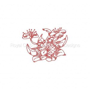 Royal Club Of Embroidery Designs - Machine Embroidery Patterns JN Flowers Mini Set Set
