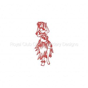 Royal Club Of Embroidery Designs - Machine Embroidery Patterns JN Hawaiian Girls Set