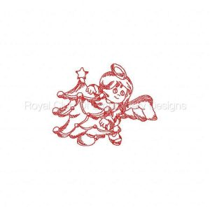 Royal Club Of Embroidery Designs - Machine Embroidery Patterns JN Little Angels Christmas2 Set