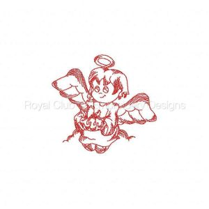 Royal Club Of Embroidery Designs - Machine Embroidery Patterns JN Little Angels Christmas Set