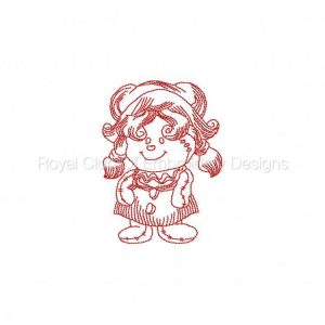 Royal Club Of Embroidery Designs - Machine Embroidery Patterns JN Rag Dolls 4 Set