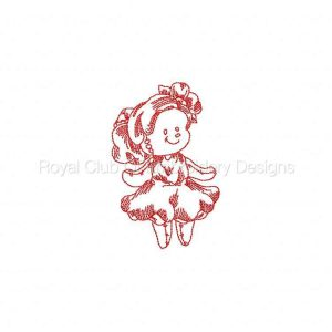 Royal Club Of Embroidery Designs - Machine Embroidery Patterns JN Rag Dolls Ballet Set