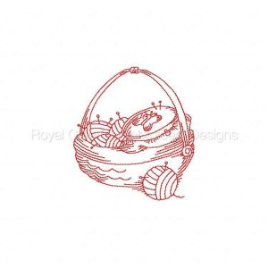 Royal Club Of Embroidery Designs - Machine Embroidery Patterns JN Sewing Baskets Set