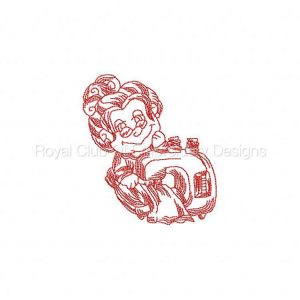 Royal Club Of Embroidery Designs - Machine Embroidery Patterns JN Sewing Grandma 2 Set