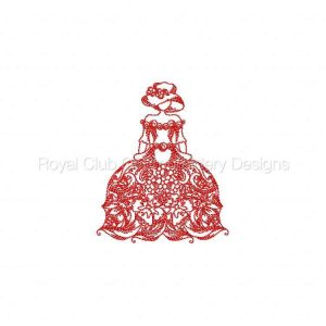 Royal Club Of Embroidery Designs - Machine Embroidery Patterns JN Victorian Dresses Set