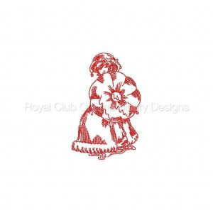 Royal Club Of Embroidery Designs - Machine Embroidery Patterns JN Victorian Ladies Rainy Day Set