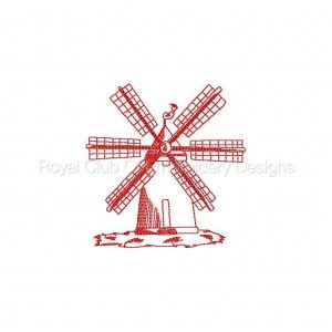 Royal Club Of Embroidery Designs - Machine Embroidery Patterns JN Windmills Set