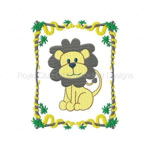 Royal Club Of Embroidery Designs - Machine Embroidery Patterns Jungle Quilt Blocks Set