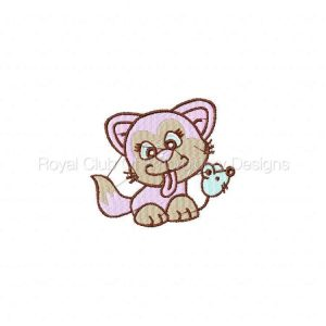 Royal Club Of Embroidery Designs - Machine Embroidery Patterns Kittens Set