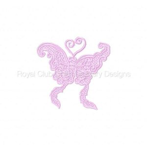 Royal Club Of Embroidery Designs - Machine Embroidery Patterns Lace Butterfly Set