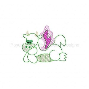 Royal Club Of Embroidery Designs - Machine Embroidery Patterns Lacey Dragons Set