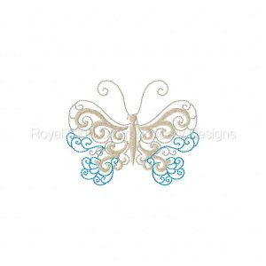 Royal Club Of Embroidery Designs - Machine Embroidery Patterns Lacy Butterflies Set