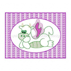Royal Club Of Embroidery Designs - Machine Embroidery Patterns Lacy Dino Quilt Blocks Set