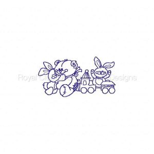 Royal Club Of Embroidery Designs - Machine Embroidery Patterns Line Art Teddy Bears Set