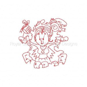 Royal Club Of Embroidery Designs - Machine Embroidery Patterns Line Art Christmas Is Coming Set