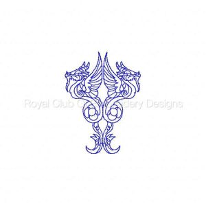 Royal Club Of Embroidery Designs - Machine Embroidery Patterns Legendary Dragons Set