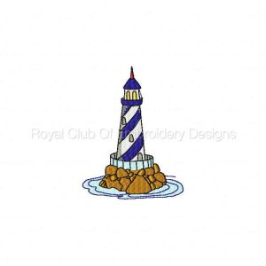 Royal Club Of Embroidery Designs - Machine Embroidery Patterns Lighthouses Set