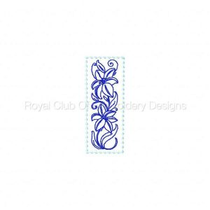 Royal Club Of Embroidery Designs - Machine Embroidery Patterns Lily Bookmark Set