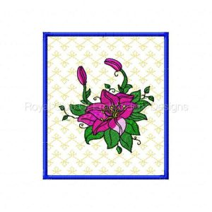 Royal Club Of Embroidery Designs - Machine Embroidery Patterns Lily Tissue Box Set