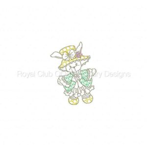 Royal Club Of Embroidery Designs - Machine Embroidery Patterns Line Art Easter Bunnies Set