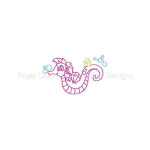 Royal Club Of Embroidery Designs - Machine Embroidery Patterns Little Seahorses 3 For 1 Set