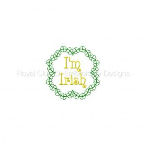 Royal Club Of Embroidery Designs - Machine Embroidery Patterns Luck O the Irish 1 Set