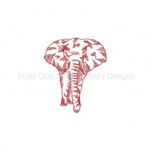 Royal Club Of Embroidery Designs - Machine Embroidery Patterns Majestic Elephants Set