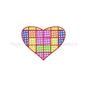 Royal Club Of Embroidery Designs - Machine Embroidery Patterns Mosaic Candlewick Hearts Set