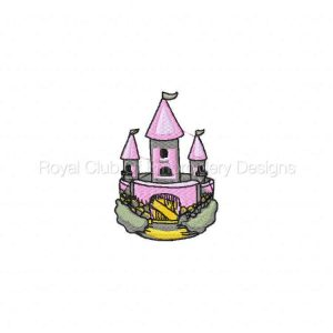 Royal Club Of Embroidery Designs - Machine Embroidery Patterns Medieval Castles Set