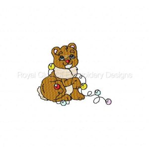 Royal Club Of Embroidery Designs - Machine Embroidery Patterns Merry Christmas Animals Set