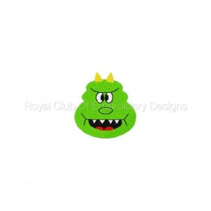 Royal Club Of Embroidery Designs - Machine Embroidery Patterns Monster Faces Set