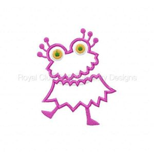 Royal Club Of Embroidery Designs - Machine Embroidery Patterns Monster Mash Girls Set