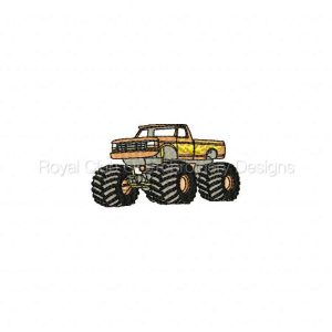 Royal Club Of Embroidery Designs - Machine Embroidery Patterns Monster Trucks Set