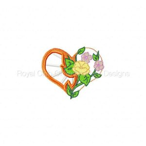 Royal Club Of Embroidery Designs - Machine Embroidery Patterns Mothers Day Faux Cutwork Hearts Set