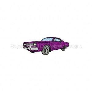 Royal Club Of Embroidery Designs - Machine Embroidery Patterns Muscle Cars 2 Set