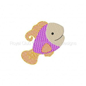 Royal Club Of Embroidery Designs - Machine Embroidery Patterns Mylar Fish Set