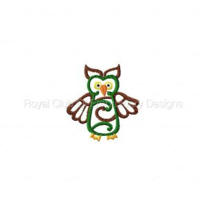 Royal Club Of Embroidery Designs - Machine Embroidery Patterns Native Owls Set