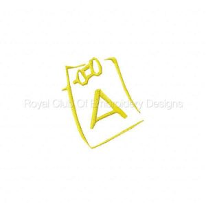 Royal Club Of Embroidery Designs - Machine Embroidery Patterns DD Note Alphabet Set