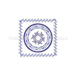 Royal Club Of Embroidery Designs - Machine Embroidery Patterns Nouveau Quilt Blocks Set