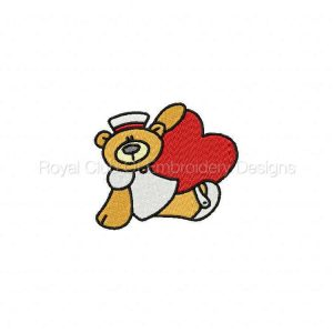 Royal Club Of Embroidery Designs - Machine Embroidery Patterns Nurse Bears Set