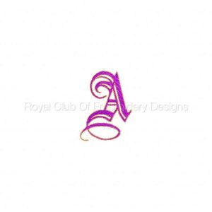Royal Club Of Embroidery Designs - Machine Embroidery Patterns DD Oh So Elegant Alphabet Set